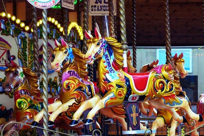 Kermis tijdens de Paardenfeesten in Jerez