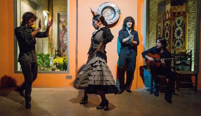 Een Flamenco optreden in de zigeunerwijk Triana in Sevilla