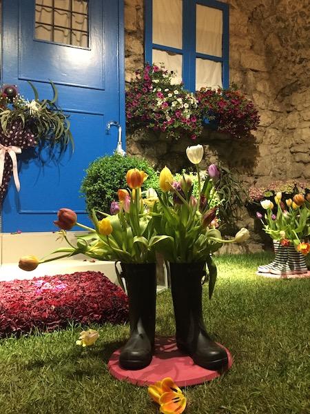 Bloemversiering Arabische Baden (Girona Temps de Flors 2019)