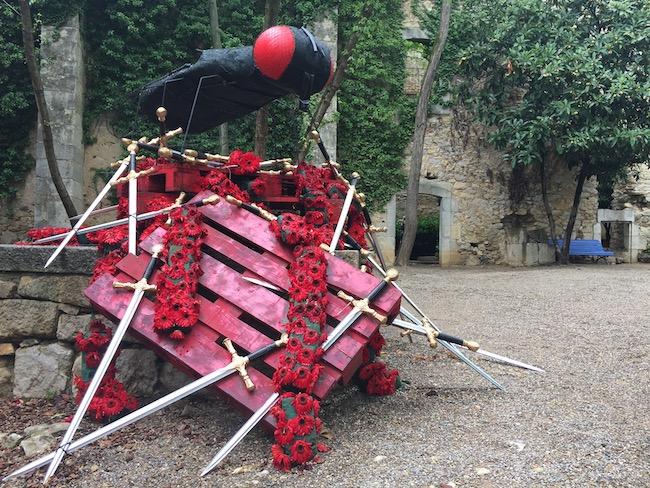 Bloemversiering Jardí dels Alemanys (Girona Temps de Flors 2019)