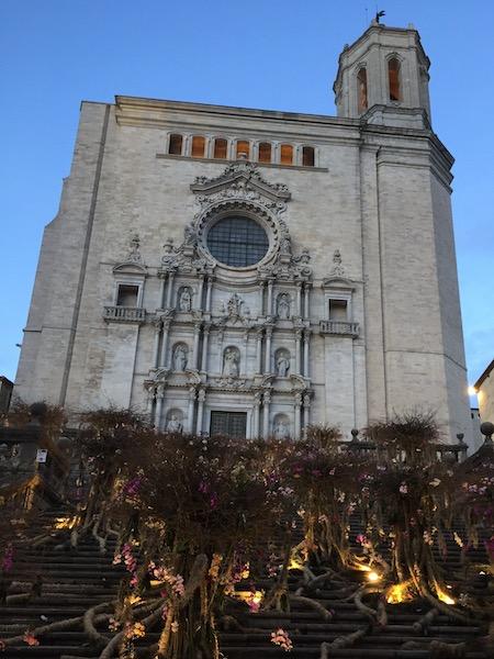 Bloemversiering trappen kathedraal (Girona Temps de Flors 2019(