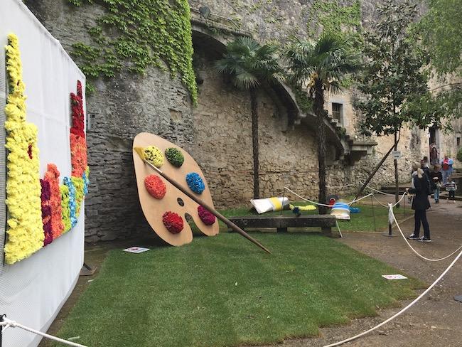 Bloemversiering Passeig Arqueológic (Girona Temps de Flors 2019)
