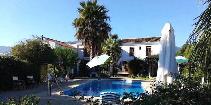 B&B Casa el Naranjo in Las Mellizas in het binnenland van Málaga (Andalusië, Zuid Spanje)