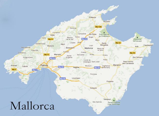 kaart Mallorca