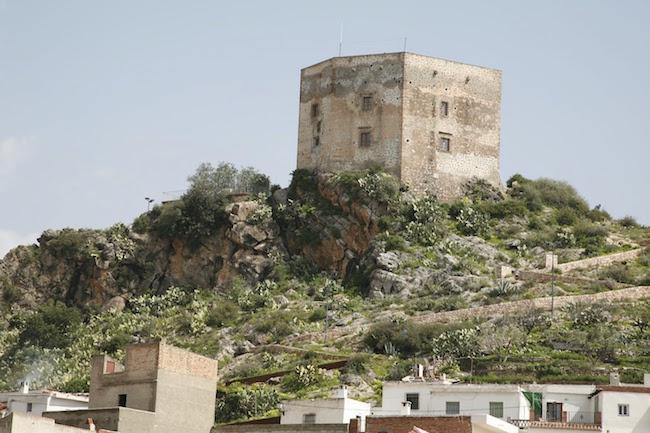 Het kasteel van Velez de Benaudalla in Andalusië (Zuid Spanje)
