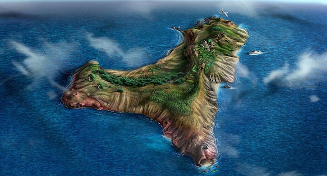 Een luchtfoto van het meest westelijk gelegen Canarische eiland