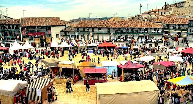 Middeleeuwse feesten in Chinchón (Madrid)