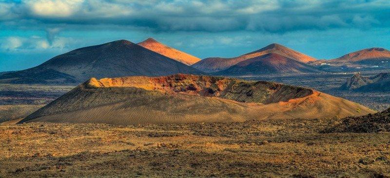 Het nationale park Timanfaya in het westen van Lanzarote