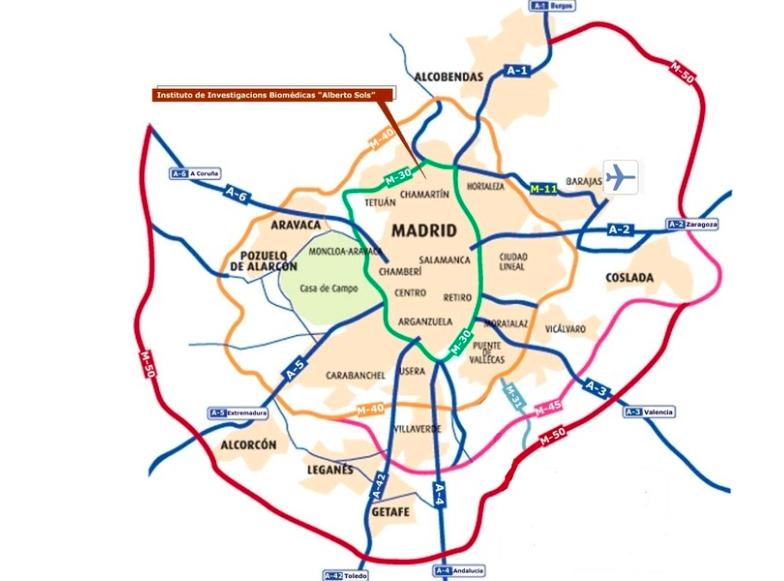 Rondwegen rond Madrid - kaart: CallejeroMadrid