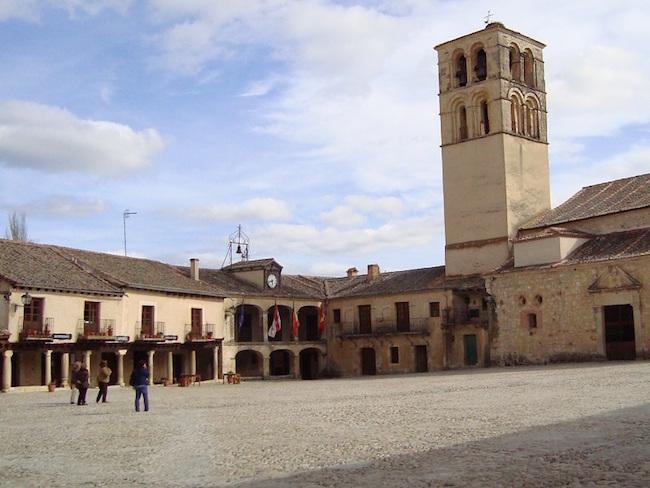 De Middeleeuwse plaats Pedraza in de provincie Segovia (Castillië en Leon, Midden Spanje)