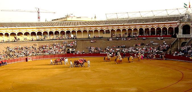 De Plaza de Toros in Sevilla, de oudste stierenarena van Spanje