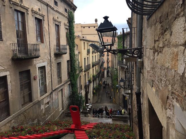 Café le Bistrot in Pujada de San Domènec in de oude binnenstad van Girona