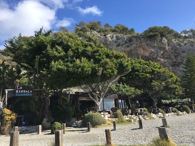 Restaurant La Barraca op Playa Cantarriján aan de Costa Tropical in Andalusië