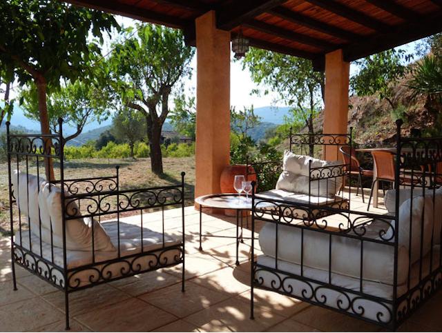 Uitzicht vanaf vakantiewoning Casa Milan in Juseu
