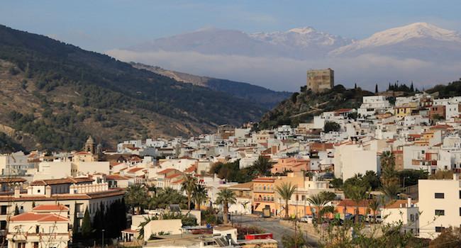 Het Moorse dorp Velez de Benaudalla in het binnenland van de provincie Granada (Andalusië)