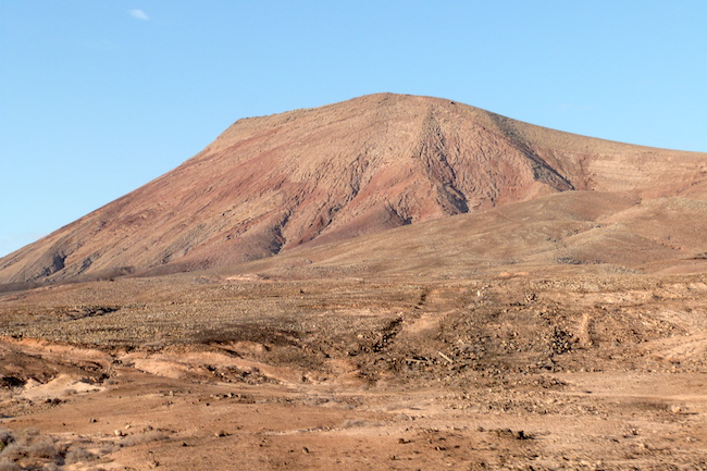 De Montaña Roja (=Rode Berg) vulkaan op Fuerteventura