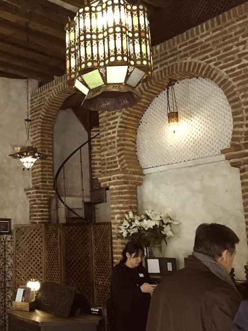 Welkomsthal Hammam al Andalus Madrid