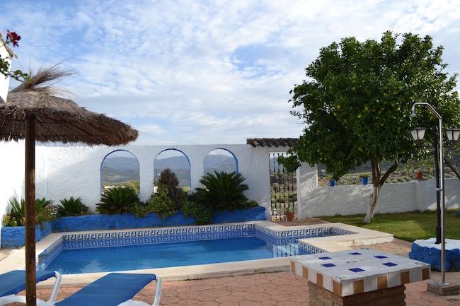 Zwembad van vakantiehuis Casa Carmela op het platteland van Córdoba (Andalusië)