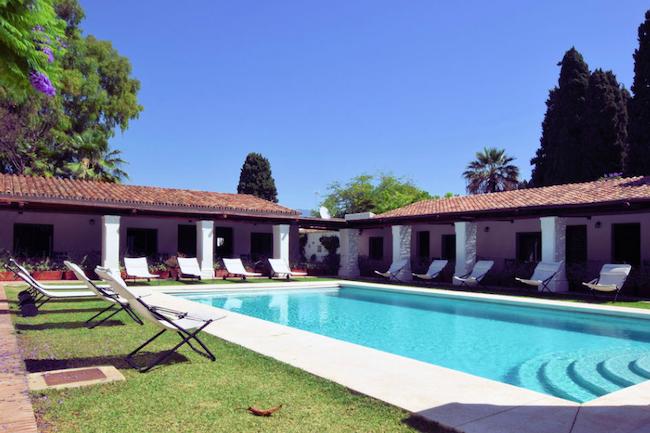 Zwembad vakantiehuis Villa la Abadesa in Marbella aan de Costa del Sol