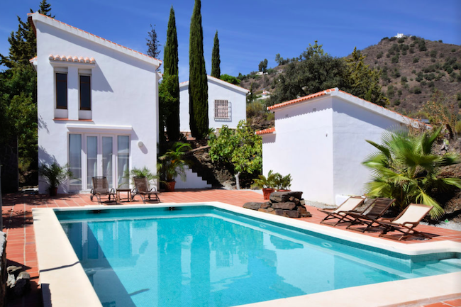 Privé-zwembad van vakantiehuis Casa Aurora in Sayalonga (Malaga, Andalusië)